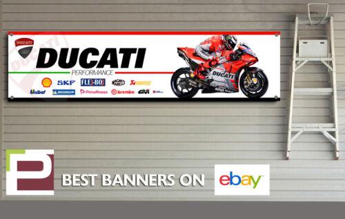MotoGP Ducati Jorge Lorenzo XL Sponsor Logo Banner for Workshop Ducati Corse