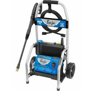 Baja 1,800 PSI Electric Pressure Washer with Turbo Nozzle