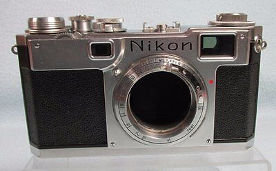 Vintage  Nikon Nippon Kogaku  Rangefinder S2? 35mm Film Camera Body #6149711