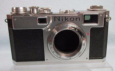 Vintage  Nikon Nippon Kogaku  Rangefinder S2? 35mm Film Camera Body #6149711