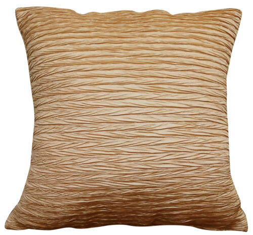 """Nouveau Viva brillant crinkled imitation soie luxe qualité coussin couverture 45x45cm 18 /"""" 18/"""""""