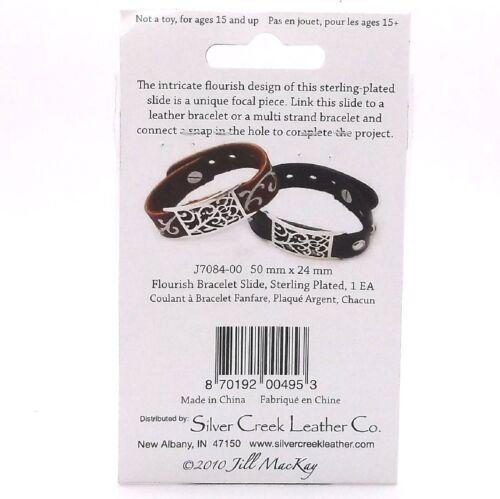 """Bracelet Slide 3//4/"""" Wide Sterling Plated J7084-00 by Silver Creek Alloy"""