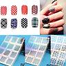 Design 12Tips/Foglio Unghie Vinili Nail Art Manicure Stencil Adesivi Timbro DIY