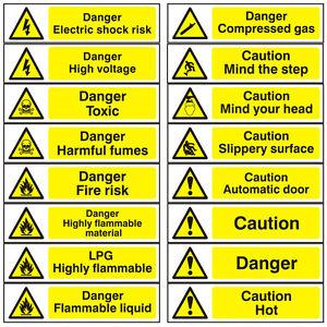 Hazard Warning Self Adhesive Danger Caution Workplace