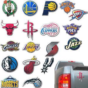 NBA-Basketball-3D-Auto-Car-Color-Chrome-Metal-Team-Logo-Emblem-Decal-Sticker-SUV