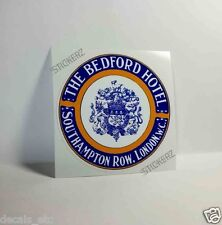 The Bedford Hotel London Vintage Style Travel Decal/Vinyl Sticker, Luggage Label