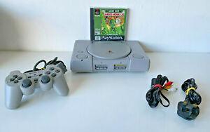 Original, Genuino SONY Playstation 1-Consola, regulador, juego y lleva - (a)