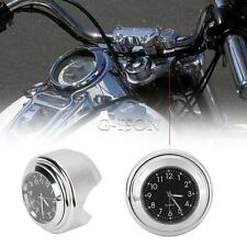 Chrome CNC Handlebar Clock For Yamaha V-Star 950 1100 1300 Custom Stryker