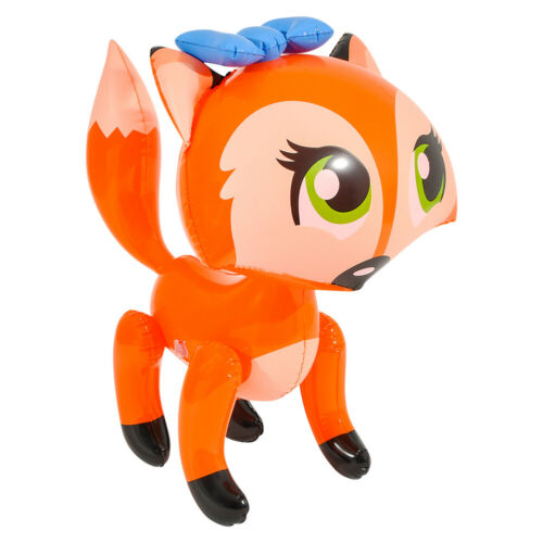 """24/"""" Orange Bowed Fox Inflatable Lady Fox  Inflate Blow Up Toy Party Decoration"""