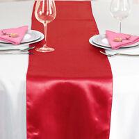 Hot Satin Table Runner Cloth Wedding Reception Festive Home Party Banquet Decor