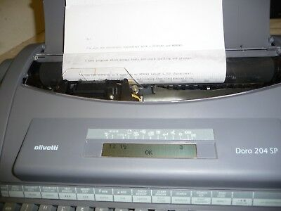 Typewriter electric OLIVETTI DORA 204 SP instructions ONLY no typewriter by emai