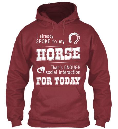 I Already Spoke To My Horse Gildan Hoodie Sweatshirt