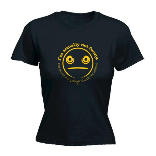 Drôle Nouveauté Tops T-shirt femme tee tshirt-Im effectivement pas drôle im moyenne