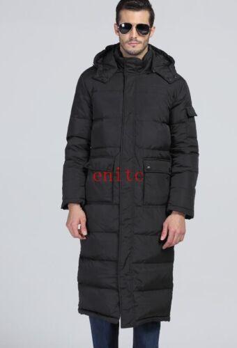 Winter Mens Puffer Warm Full Length Hooded Parka Duck Down Long Jacket Coat X-28