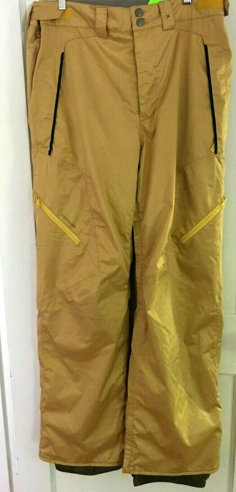 190 Men's Foursquare XL  Snowboard Pants gold NWOT  Waterproof Insulated Winter  cheaper prices
