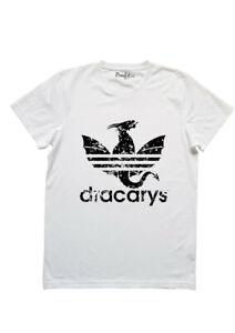 40c9d0f99b Dettagli su T-Shirt Maglietta Adidas Dracarys Trono di Spade game of  thrones deneris BIANCA