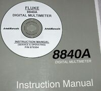 Fluke 8840a Dm Instruction Manual (operating & Service+ Good Schematics)