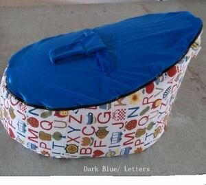 Super Details About Dark Blue Letter Baby Bean Bag Snuggle Bed Baby Sleeping Chair Without Fillings Bralicious Painted Fabric Chair Ideas Braliciousco