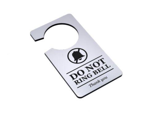 Ne pas Ring Bell signe porte cintre Avis-Disponible en ou Argent Métallisé Noir