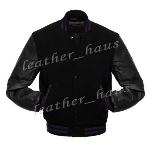 Superb Genuine Leather Sleeve Letterman College Varsity Wool Jackets #BSL/_CLR/_S1
