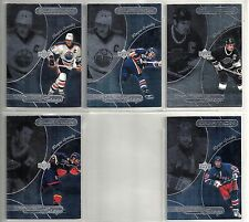 Wayne Gretzky 1999-00 Upper Deck 5-card Ovation Center Stage Hockey Insert Lot
