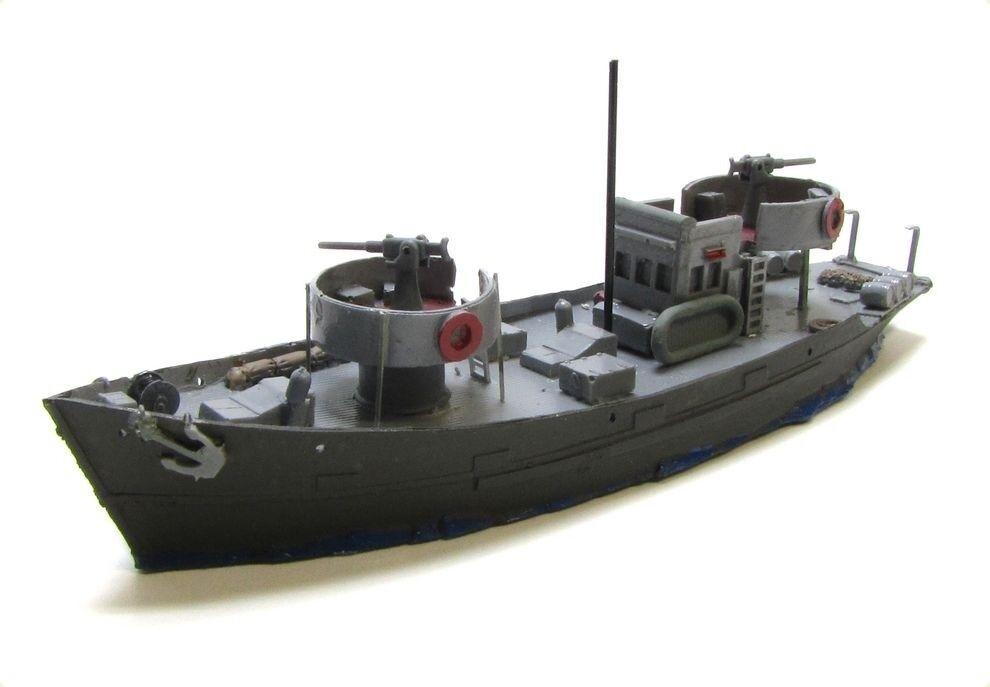GUERRE poisson Kutter CSC 363 avec canons ww2 Stand Stand Stand Modèle militaire échelle 1 160 f7dcb4