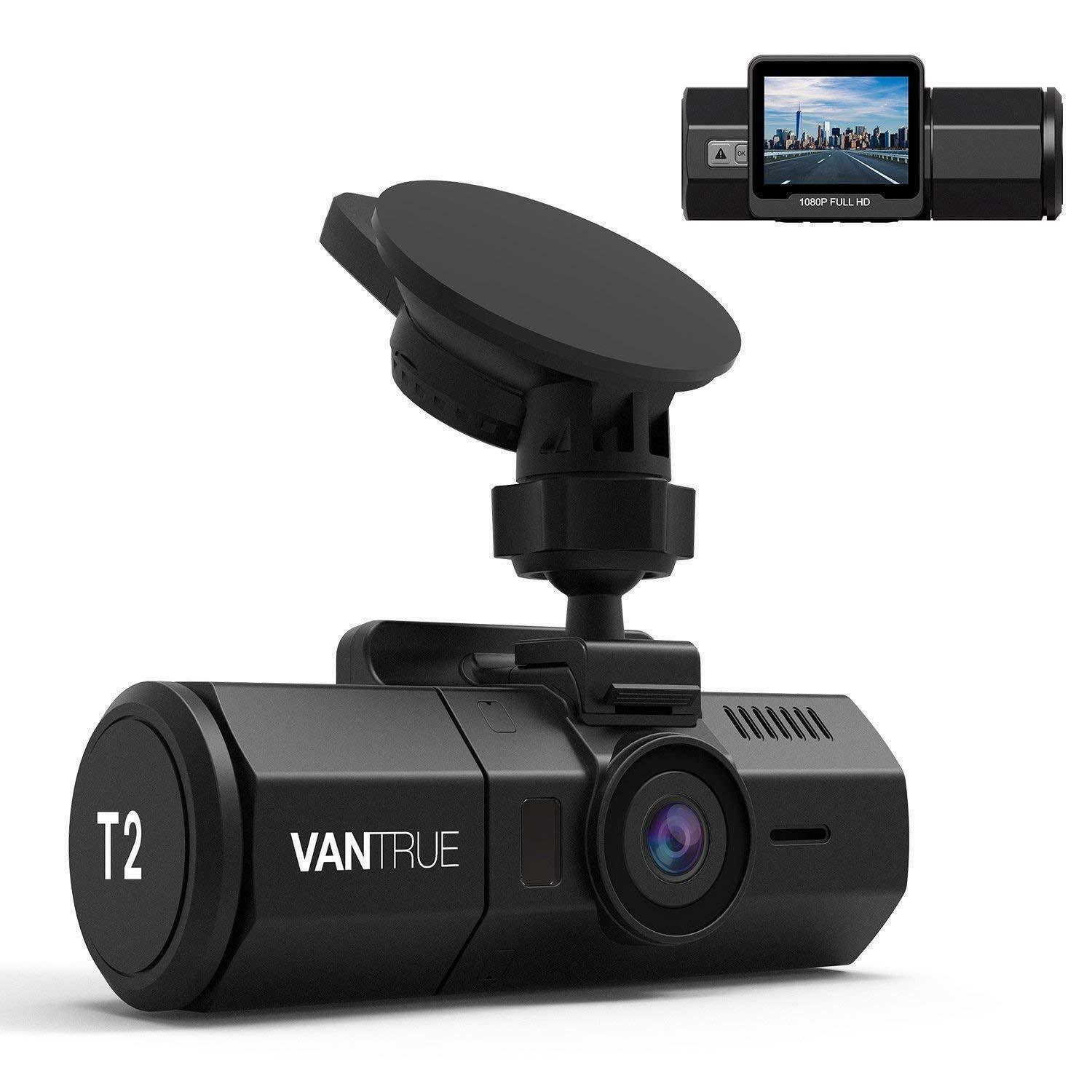 s-l1600 Vantrue T2 24/7 Surveillance Super Capacitor Dash Cam 1080P, Night Vision, DVR