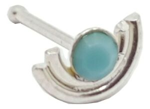 Nose-Stud-Silver-Goddess-Symbol-Turquoise-Boho-22g-0-6mm-Ball-End-Princess