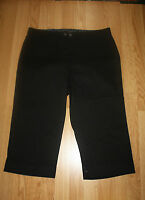 Bandolinoblu Black Maureen Roll Cuff Comfort Stretch Waist Capris Size 6