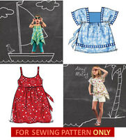 Sewing Pattern Makes Girls Tops 4 Summer Styles Child 3 To Girl 14 Clothes