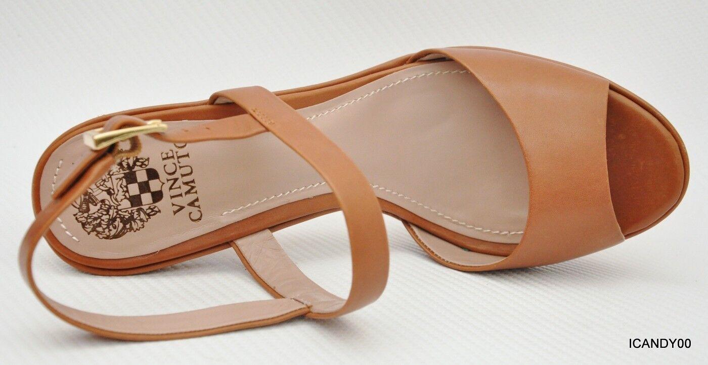 New    118 Vince Camuto CAIRO Strappy Sandal Platform Pump Heel Canyon Brown 9.5 944c4e