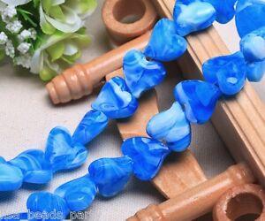 10pcs-18mm-Heart-Stripe-Lampwork-Glass-DIY-Finding-Charms-Loose-Beads-Sky-Blue
