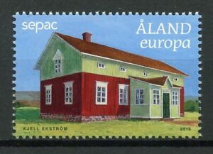 Aland-2019-MNH-Old-Residential-Buildings-SEPAC-1v-Set-Architecture-Stamps
