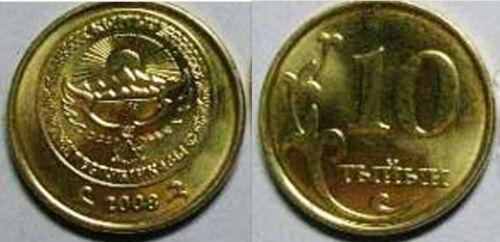 KM12 Kyrgyzstan 2008 10 Tyiyn 10 Uncirculated Coin Lot