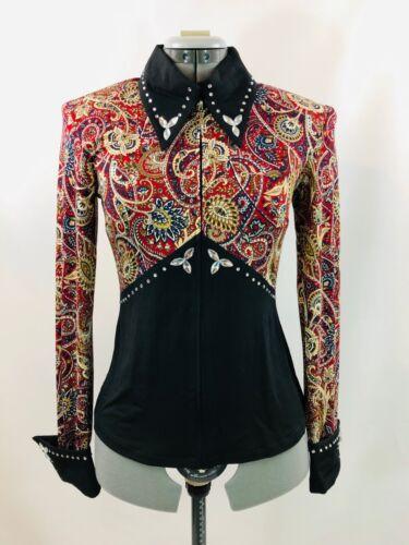 Medium Western Show Pleasure Rail Shirt Jacket Clothes Showmanship Horsemanship