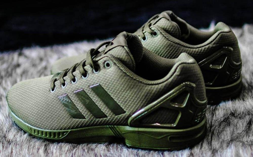 REGNO Unito misura 10.5 - Adidas Originals ZX Flux Scarpe da ginnastica a torsione-VERDE-cg3399