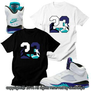 2597cae464d CUSTOM T SHIRT MATCHING STYLE OF AIR JORDAN V FRESH PRINCE Grape JD ...