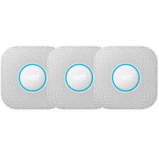 Google Nest S3006WBUS Protect Smoke and CO Alarm, Battery, 3-Pack - White