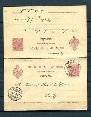 1892.espaÑa.entero Postal.usado.edifil 33(o).catalogo Keine Kostenlosen Kosten Zu Irgendeinem Preis