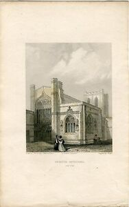 Chester-Cathedral-Engraved-By-B-Winkles-Drew-C-Warren