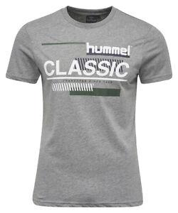 hummel Herren CRUZ SHORT SLEEVE TEE T-SHIRT Grau TShirt Shirt NEU