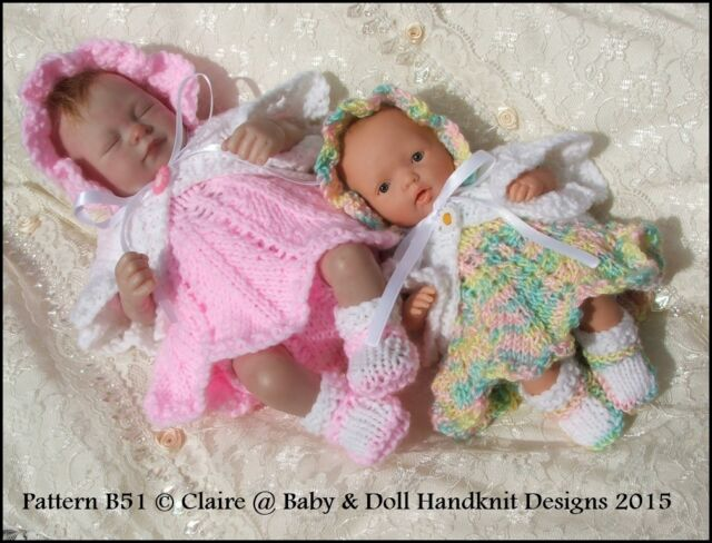 190b4815a Babydoll Handknit Designs Knitting Pattern B51 Petal Skirt Dress Set ...