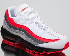 b7d3146297a5d Nike Air Max 95 Essential Comet Men's Lifestyle Shoes White Crimson ...