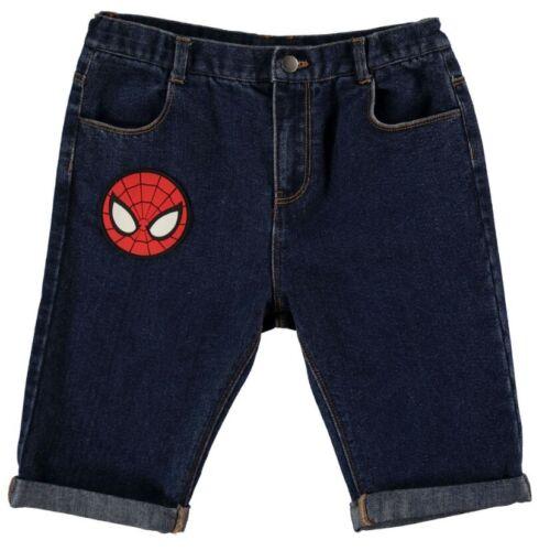 SPIDER-MAN BOYS Branded cerniera Pantaloncini Di Jeans Pantaloni Bottoms Taglia 7-8 anni
