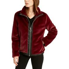 Bar Iii Womens Faux Leather Trim Warm Casua Faux Fur Jacket Coat Bhfo 2227