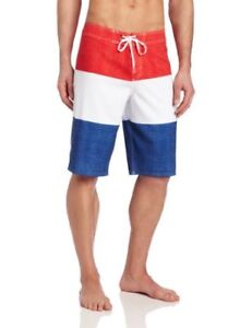 bc4222d68a PBR Pabst Blue Ribbon Beer O'Neill Board Shorts Mens 31 32 Red White ...