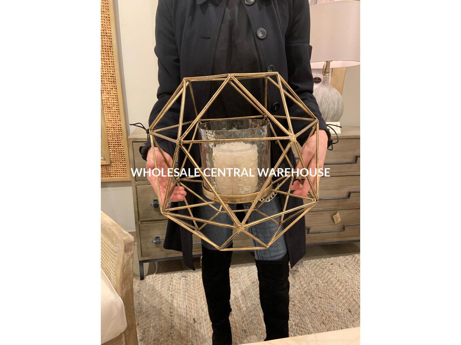 Myah XXL jaula de metal moderno 15  geométrica candelabros vela titular perpetuamente