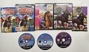 Playstation 2 Barbie Horse Adventures, Silver Buckle Stables & Breeders Cup Lot!