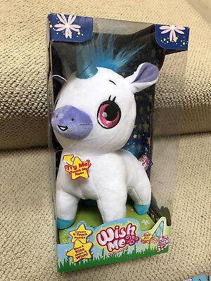 Wish Me Glow Stuffed Animal Unicorn-Green horn and pink hair