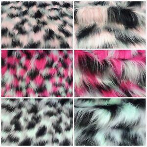 Webpelz Langhaar kuscheliges Kunstfell Stoff Fell Weiß Pink Deko Bekleidung